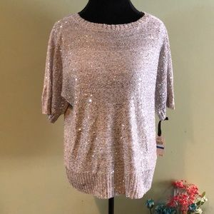NWT Emaline Petite Sequined Sweater